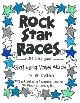 Rock Star Races:  Short and Long Vowel Words