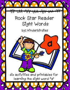 "Rock Star Reader Program: Sight Word  ""a"""