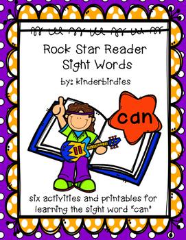 """Rock Star Reader Program: Sight Word  """"can"""""""