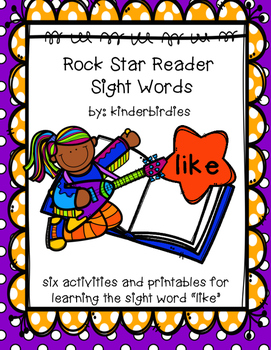 """Rock Star Reader Program: Sight Word  """"like"""""""