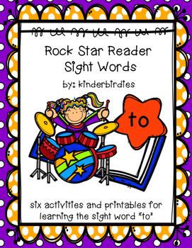 """Rock Star Reader Program: Sight Word  """"to"""""""