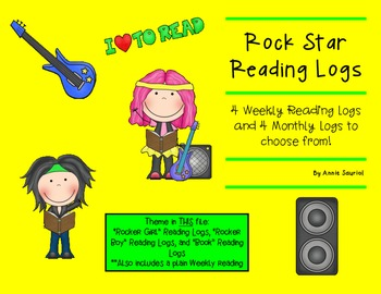 Rock Star Reading Logs: Daily and Monthly Recording Sheets