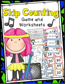 Skip Counting Game: Counting by 2s, 5s, and 10s - 36 Task Cards