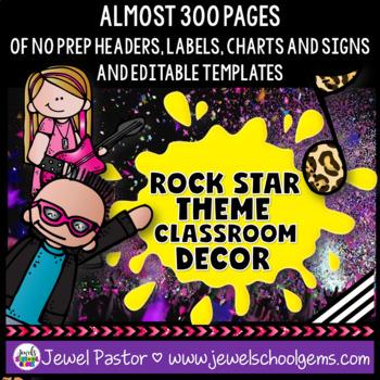 Rock Star Theme Classroom Decor
