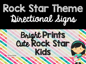 Rock Star Theme Classroom Decor: Directional Signs