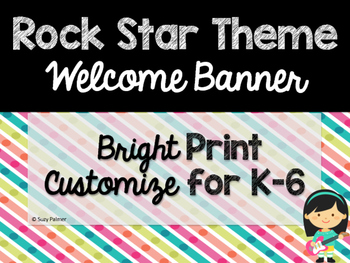Rock Star Theme Classroom Decor: Welcome Banner