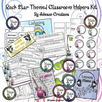 Rock Star Themed Classroom Helpers Kit