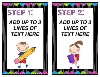 Rock Star Themed Daily Schedule Task Cards