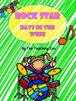 Rock Star Themed Days of the Week