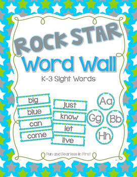 Rock Star Sight Word Wall