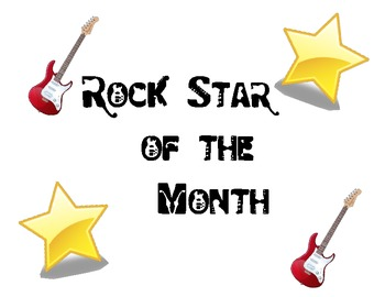 Rock Star of the Month