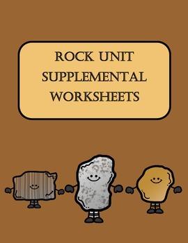 Rock Unit Supplemental Worksheets