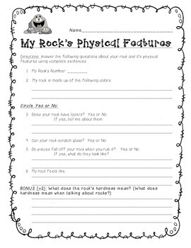 Rock and Mineral Exploration Worksheet