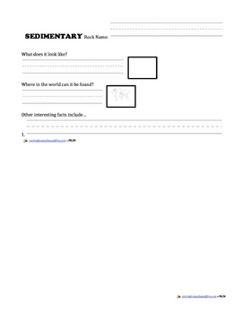 Rock and Mineral Research Forms