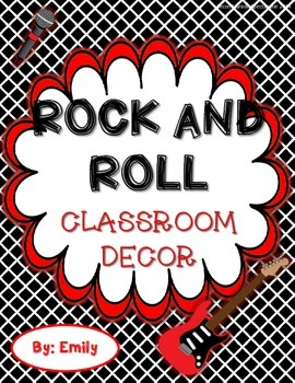 Rock and Roll Classroom Decor