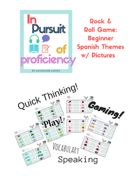 Rock and Roll Game: Spanish Beginner Vocabulary with Pictures