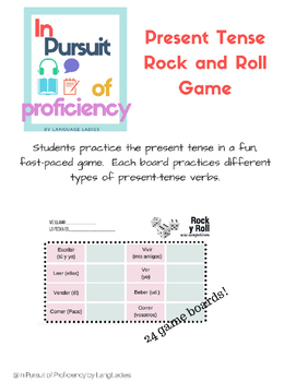 Rock and Roll: Present Tense Verb Game (juegos)