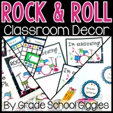 Editable Rock and Roll Theme Classroom Decor ~ 400 Pages o