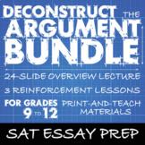 SAT Essay Prep BUNDLE, Deconstruct the Argument, Rhetorica
