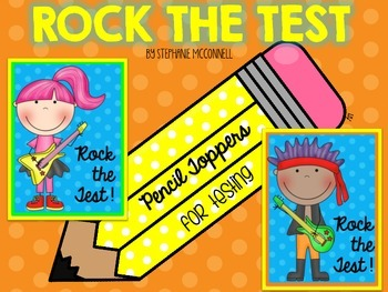 Rock the Test Pencil Toppers-FREE