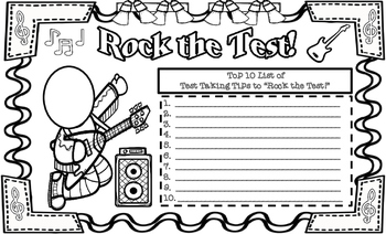 Rock the Test! Top 10 Test Taking Tips Student Created Poster