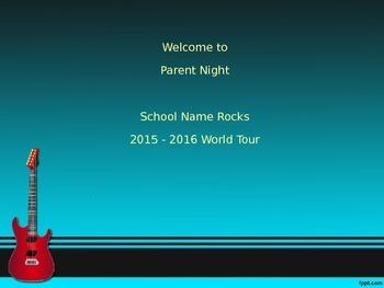 Open House Parent Orientation  Rock Star Theme