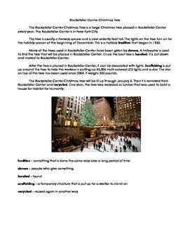 Rockefeller Center Christmas Tree informational text