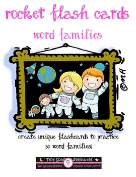 Rocket Flash Cards: Word Families (Common Core)
