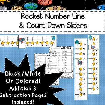 Rocket Number Line Addition Subtraction