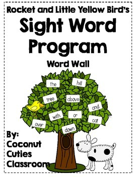 Rocket and Little Yellow Bird's Sight Words {Word Wall and