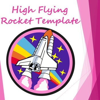 Rocket template: High flying paper rocket launched via straw