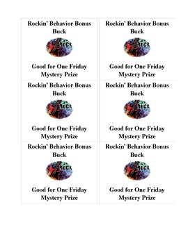 Rockin' Behavior Bonus Bucks
