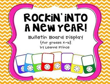 Rockin' Into a New Year Bulletin Board Display {MP3 players!}