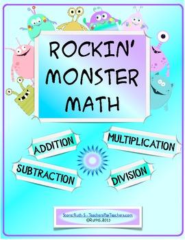 Rockin' Monster Math Addition Subtraction Multiplication D