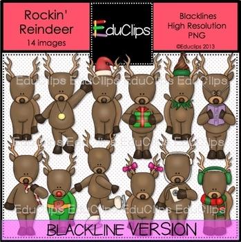 Rockin' Reindeer BLACKLINES