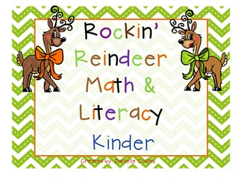 Rockin' Reindeer Kindergarten Math & ELA Centers (16 CCSS