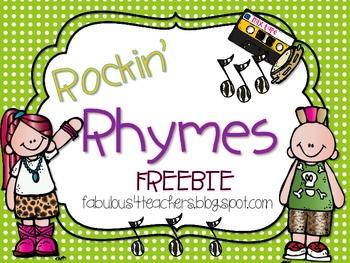 Rockin' Rhyme FREEBIE