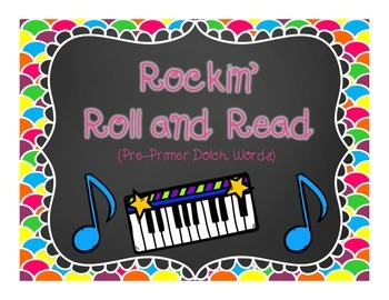 Rockin' Roll and Read {Pre-Primer Dolch Words}