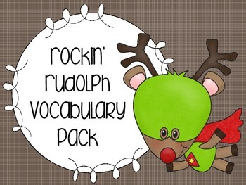 Rockin' Rudolph Vocabulary Pack
