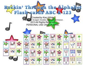 Rockin' Through the Alphabet Flash Cards, bonus 1-10 cards
