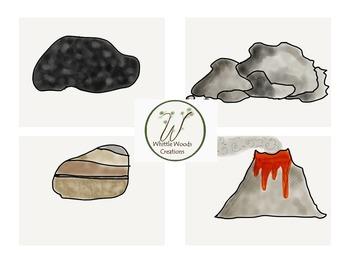 Rocks Clipart - Types of Rocks