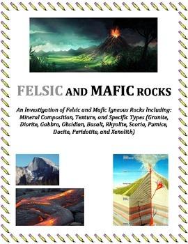 Rocks:  FELSIC and MAFIC Igneous Rocks (Portion of Larger