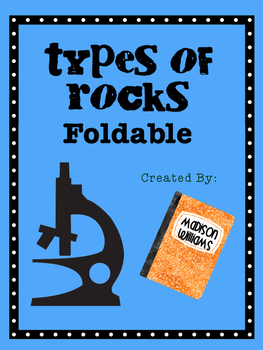 Rocks Foldable; Sedimentary Igneous Metamorphic Science Activty