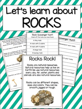 Rocks: Introduction and a Rock Scavenger Hunt