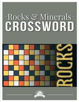 Rocks & Minerals Crossword Puzzle {Editable}