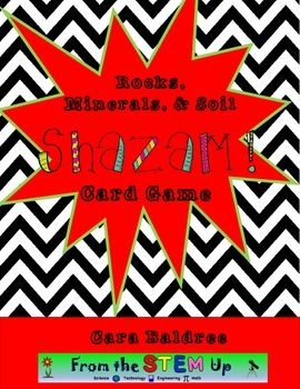 Rocks, Minerals, and Soil SHAZAM Card Review Game