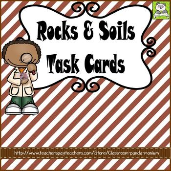 Rocks, Minerals, and Soils Task Cards