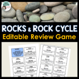 Rocks & Rock Cycle Review Activity