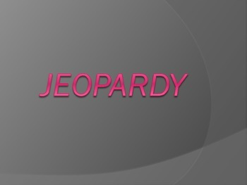 Rocks, Weathering, and Erosion Jeopardy Review Game