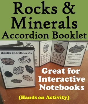 Types of Rocks and Minerals Foldable/ Activity: Earth Scie